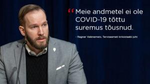 """Ragnar Vaiknemets: """"Meie andmetel ei ole COVID-19 tõttu suremus tõusnud"""""""