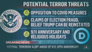 Bideni sisejulgeolekuministeerium kuulutas piirangutevastased ametlikult terroristideks
